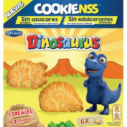 Foto principal Dinosaurus biscuits without sugars Artiach 185 gr.