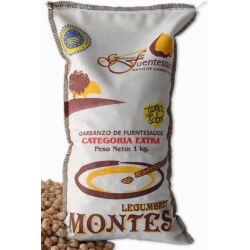 Chickpeas IGP from Fuentesaúco Legumes Montes bag 1 kg.
