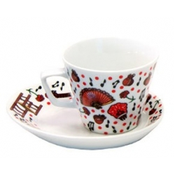 Foto principal Coffee set 6 large cups Flamenco