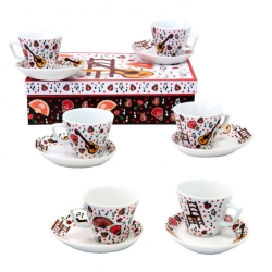 Coffee set 6 large cups Flamenco