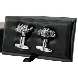 Foto principal Metal cufflinks Flamenco and Bull