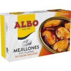 Foto principal Mussels in Galician sauce Albo 12/16 pieces 120 gr.