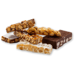 Special selection portions nougats and pralines El Almendro