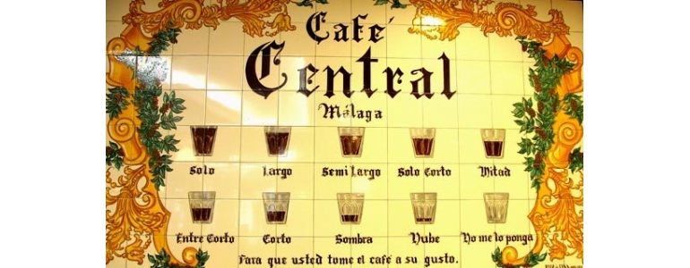 The thousand ways to order coffee in Malaga