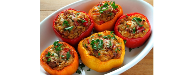 Stuffed peppers Baked Mince