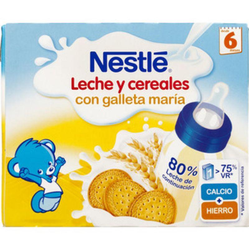 Leche y cereales con galleta mar a nestl - Cereales sin gluten bebe 3 meses ...