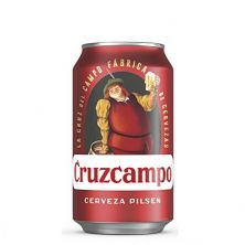Cruzcampo beer 33 cl .